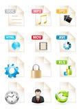 De Pictogrammen van het document Royalty-vrije Stock Foto's