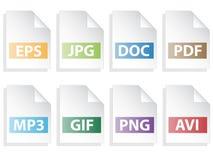 De pictogrammen van het document Royalty-vrije Stock Fotografie