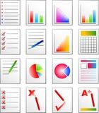De pictogrammen van het document Stock Afbeelding