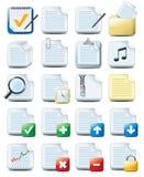 De pictogrammen van het document Royalty-vrije Stock Foto