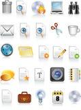 De pictogrammen van het document en van het bureau Stock Fotografie