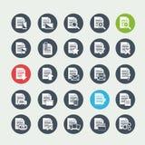 De pictogrammen van het documentdossier Royalty-vrije Stock Foto's