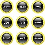 De pictogrammen van het domein Royalty-vrije Stock Foto's