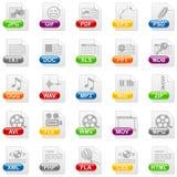 De pictogrammen van het dossier Stock Foto's