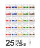 De Pictogrammen van het dossier en van het Document Royalty-vrije Stock Foto's