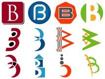 De Pictogrammen van het Embleem van de brief B royalty-vrije illustratie