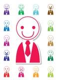 De pictogrammen van het emotiegezicht Stock Afbeelding