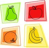 De pictogrammen van het fruit vector illustratie