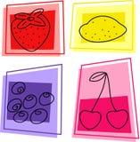 De pictogrammen van het fruit Stock Foto