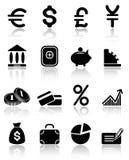 De pictogrammen van het geld Stock Afbeelding