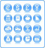 De pictogrammen van het geld Royalty-vrije Stock Foto's