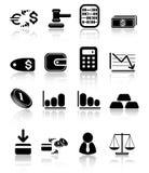 De pictogrammen van het geld Royalty-vrije Stock Afbeeldingen