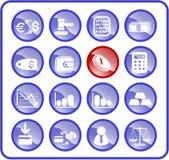 De pictogrammen van het geld vector illustratie
