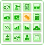 De pictogrammen van het geld royalty-vrije illustratie
