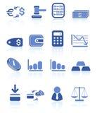 De pictogrammen van het geld Stock Foto