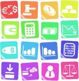 De pictogrammen van het geld Stock Foto's