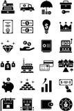 De pictogrammen van het geld & van Financiën Stock Afbeeldingen