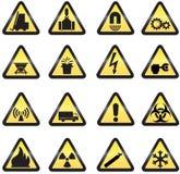 De pictogrammen van het gevaar Stock Fotografie