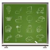 De pictogrammen van het golf en van de sport Royalty-vrije Stock Fotografie