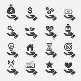 De pictogrammen van het handconcept Royalty-vrije Stock Foto