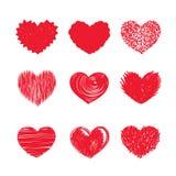 De Pictogrammen van het hart Stock Foto's