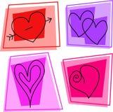 De pictogrammen van het hart Stock Afbeelding