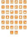 De pictogrammen van het hotel Stock Foto