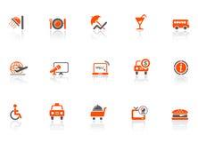 De pictogrammen van het hotel en van de reis Royalty-vrije Stock Fotografie