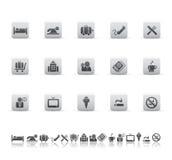 De pictogrammen van het hotel en van de reis Royalty-vrije Stock Foto's