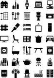 De pictogrammen van het huis royalty-vrije illustratie