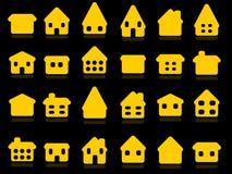 De pictogrammen van het huis Stock Afbeeldingen