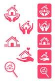 De pictogrammen van het huis Stock Foto's