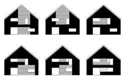 De pictogrammen van het huis Royalty-vrije Stock Afbeeldingen