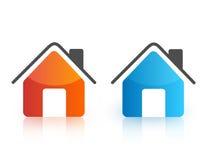 De pictogrammen van het huis Stock Foto