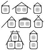 De pictogrammen van het huis Stock Afbeelding