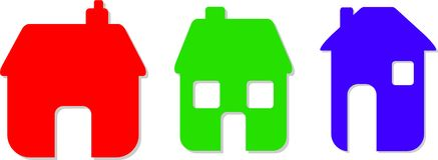 De pictogrammen van het huis Royalty-vrije Stock Foto