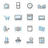 De pictogrammen van het huistoestellen van de contour Royalty-vrije Stock Afbeeldingen