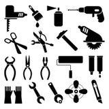 De pictogrammen van het hulpmiddel Stock Fotografie