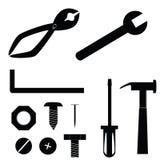 De pictogrammen van het hulpmiddel vector illustratie