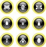 De pictogrammen van het insect stock illustratie