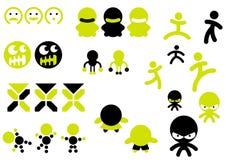 De pictogrammen van het karakter Royalty-vrije Stock Foto