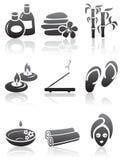 De pictogrammen van het KUUROORD Stock Afbeeldingen