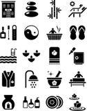 De pictogrammen van het kuuroord vector illustratie