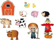 De pictogrammen van het landbouwbedrijf Royalty-vrije Stock Foto's