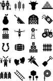 De pictogrammen van het landbouwbedrijf Stock Afbeeldingen