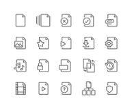 De Pictogrammen van het lijndossier stock illustratie