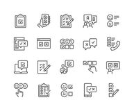 De Pictogrammen van het lijnonderzoek stock illustratie