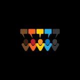 De pictogrammen van het mensengesprek of online commentaren & praatjes - concept v Stock Foto