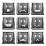 De pictogrammen van het metaalnet Stock Foto's