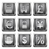 De pictogrammen van het metaalnet Royalty-vrije Stock Foto